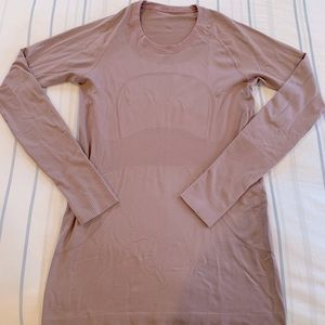 Lululemon Swiftly Tech long sleeve, 10, EUC! Mauve